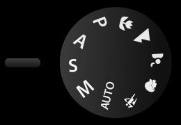 دکمهٔ انتخاب حالت تقدم شاتر در دوربینهای شرکت نیکون. برای انتخاب حالت تقدم شاتر، باید زبانه بر روی S قرار گیرد.