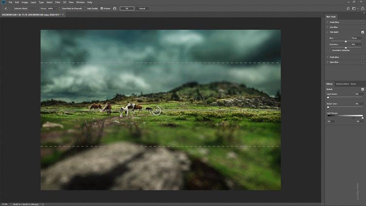 چگونه با فیلتر Tilt-Shift تصاویر مینیاتوری خلق کنیم؟