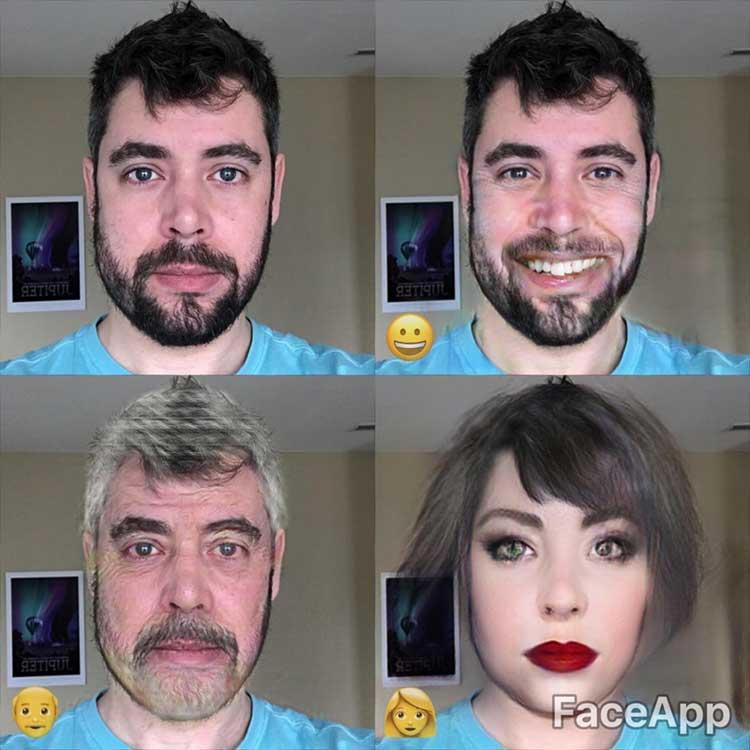 تغییر چهره با اپلیکیشن FaceApp
